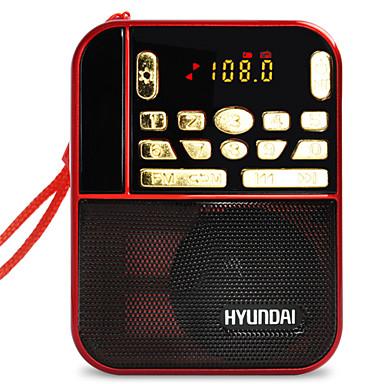 H1 FM Hordozható rádió MP3 lejátszó SD-kártyaWorld ReceiverPiros