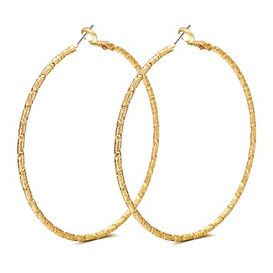 Women's Hoop Earrings - Rose Gold Ladies, Luxury, Tassel, Bohemian, Basic, Punk Gold / Silver For Party Ceremony Stage / Oversized