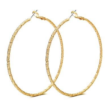 Női Luxus / Bojt / Bohém Rose Gold Francia kapcsos fülbevalók - Luxus / Bojt / Bohém Arany / Ezüst Circle Shape / Geometric Shape