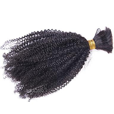 Mongol haj Kinky Curly Emberi haj sző 1 darab Bundle Hair