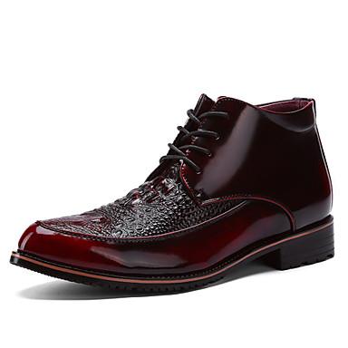 Férfi cipő Lakkbőr Ősz Kényelmes Félcipők Gyalogló Arany / Fekete / Burgundi vörös / Party és Estélyi