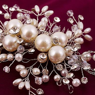 abordables Coiffes-Imitation de perle / Strass / Alliage Peignes / Fleurs avec 1 Mariage / Occasion spéciale / Anniversaire Casque