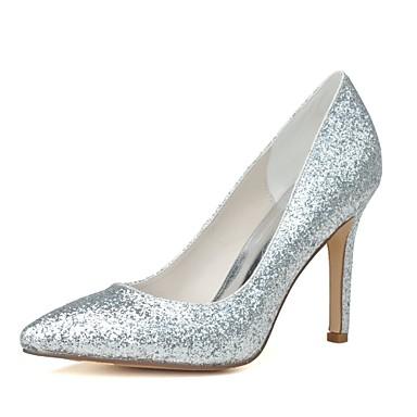 Női Cipő Csillogó flitter Flitter Tavasz Nyár Magasított talpú Esküvői cipők Tűsarok Erősített lábujj mert Esküvő Party és Estélyi Arany
