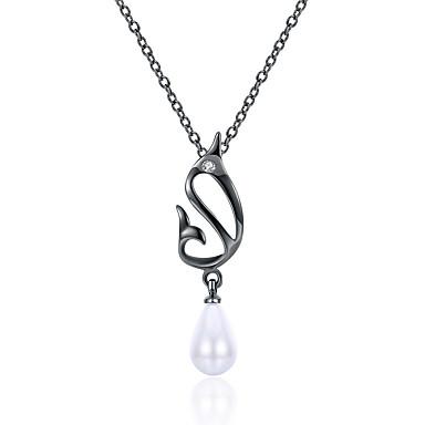 Női Gyöngy Nyaklánc medálok - Gyöngy Fehér / Luxus