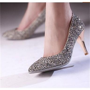Damen Schuhe Nubukleder PU Frühling Komfort High Heels Für Normal Weiß Schwarz
