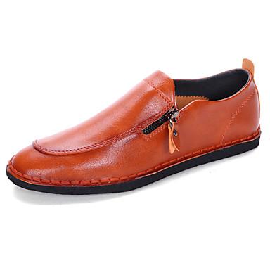 Férfi cipő Oxford Tavasz / Ősz Kényelmes Papucsok & Balerinacipők Fehér / Fekete / Barna