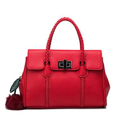 Damen Taschen Kuhfell Umhängetasche für Normal Ganzjährig Rote
