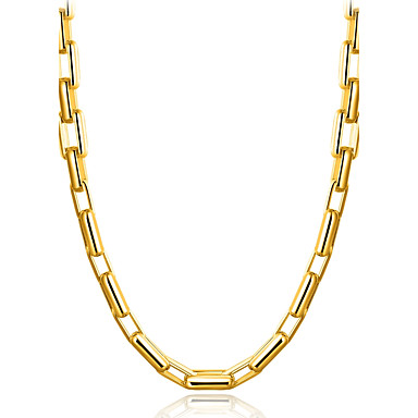 Men's Geometric Choker Necklace - Gold Plated Classic, Natural, Gothic Gold Necklace For Graduation, Daily, Stage