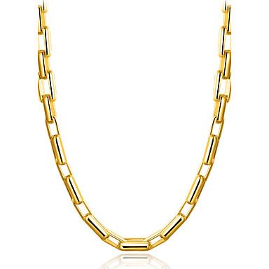 Férfi Arannyal bevont Rövid nyakláncok  -  Klasszikus Természet Csing Csing Geometric Shape Arany Nyakláncok Kompatibilitás fokozatokra