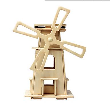voordelige 3D-puzzels-Speelgoedauto's Speelgoed op zonne-energie 3D-puzzels Windmolen Op Zonne-Energie DHZ Puinen Klassiek Kinderen Speeltjes Geschenk