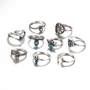 Női Kristály / Szintetikus gyémánt / Strassz Kristály Luxus / Bohém / Hipoallergén Ékszer szett - Luxus / Bojt / Bohém Circle Shape /