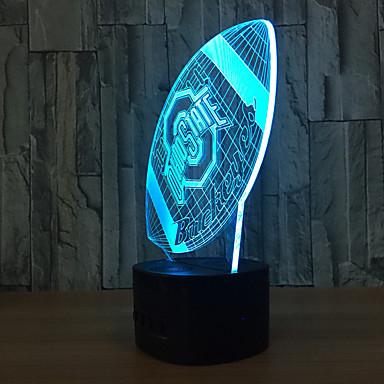 1set 3D éjszakai fény USB Érintésérzéklő / Színváltós Művészi / LED
