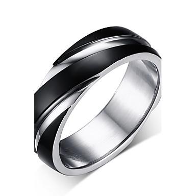 Férfi Band Ring - Circle Shape Vintage / minimalista stílusú Fekete Gyűrű Kompatibilitás Esküvő / Napi / Ünnepség