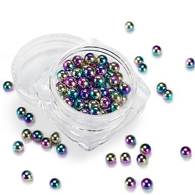 1 Csillogás Köröm ékszer alkatrészek Tartozékok Csináld magad kiegészítők 3D Glitters Művészi Egyszerű Kerek Luxus Geometrijski oblici