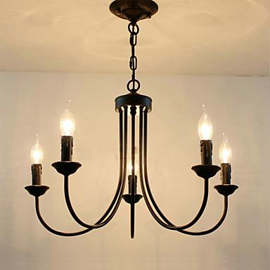 النمط الأوروبي كريستال الثريات غرفة المعيشة أضواء الطعام بسيطة الإبداعية الشموع المصابيح والفوانيس الجدة ليتيغ