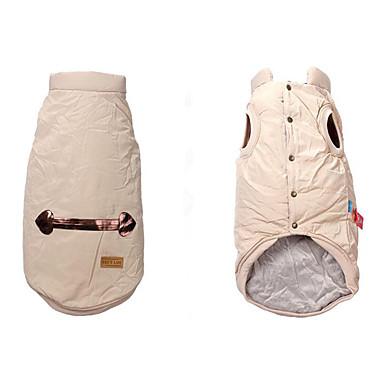 Hund Weste Hundekleidung Solide Baumwolle Daune Kostüm Für Haustiere Herrn Damen Lässig / Alltäglich