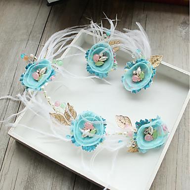 Tüll Chiffon Künstliche Perle Feder Blumen Haarklammer 1 Hochzeit Besondere Anlässe Geburtstag Party / Abend Kopfschmuck