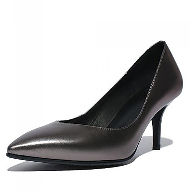 Damen Schuhe Echtes Leder PU Herbst Winter Komfort Pumps High Heels Für Normal Schwarz Grün