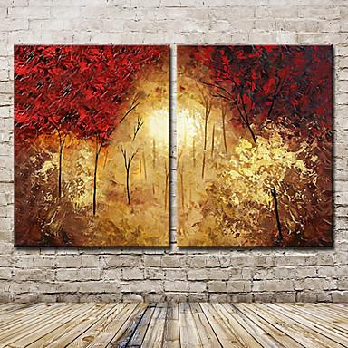 Handgemalte Abstrakt Landschaft Abstrakte Landschaft Horizontal,Modern Ein Panel Leinwand Hang-Ölgemälde For Haus Dekoration
