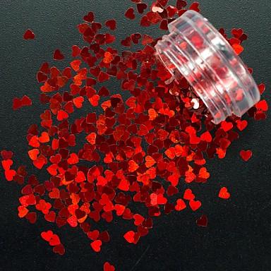 1db Flitter / Nail Glitter Heart Shape / Ragyogó és csillogó Körömművészeti tervezés
