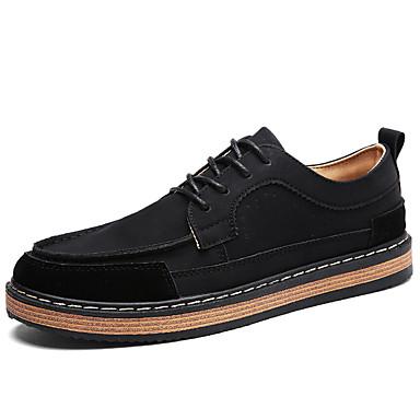 Herren Schuhe Künstliche Mikrofaser Polyurethan Sommer Herbst Komfort Sneakers Schnürsenkel Für Normal Schwarz Grau Grün