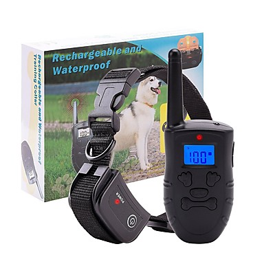 Dog Training Waterproof Rechargeable Shock/Vibration Electronic/Electric Easy to Use