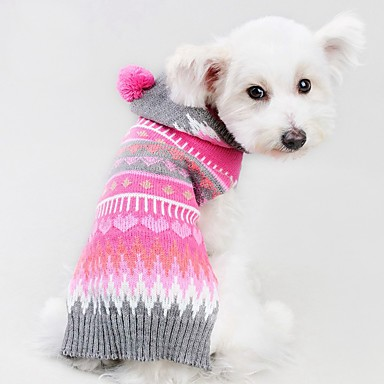 Cat Dog Coat Sweater Christmas Dog Clothes Stripe Rose Spandex Cotton/Linen Blend Costume For Pets Party Casual/Daily Cosplay Keep Warm