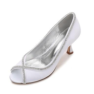 06096590 Confort Heel Printemps Satin Aiguille Femme Escarpin Bas Eté Talon Basique Talon de Chaussures Bout mariage Kitten Chaussures xIPEqT