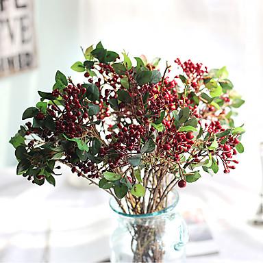 1 Ast Seide Styropor Polyester Pflanzen Tisch-Blumen Künstliche Blumen