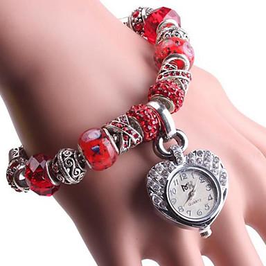 baratos Relógios Homem-Mulheres Bracele Relógio Digital Cobre Vermelho / Verde Analógico Vermelho Verde
