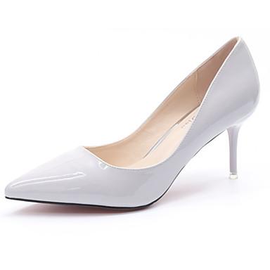 Mujer Zapatos Ante Verano Talón Descubierto Zuecos y pantuflas Tacón Stiletto Dedo Puntiagudo Pajarita Negro / Rosa 2T7CTZr8