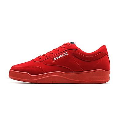 Herren Schuhe PU Winter Herbst Komfort Leuchtende Sohlen Sneakers Für Normal Schwarz Grau Rot