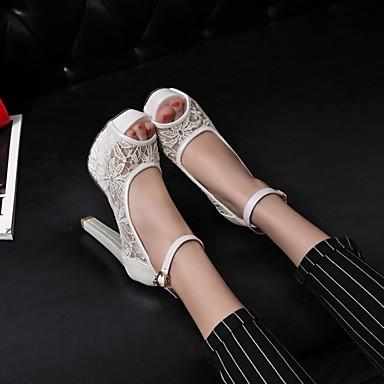 Mulheres Sapatos Materiais Customizados Primavera Verão Conforto Inovador Salto Agulha Plataforma Presilha para Casamento Escritório e