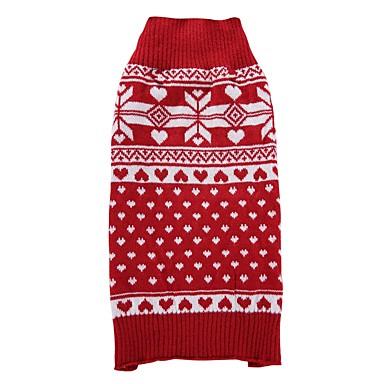 Cica Kutya Kabátok Pulóverek Karácsony Kutyaruházat Hópehely Piros Spandex Cotton/Linen Blend Jelmez Háziállatok számára Party