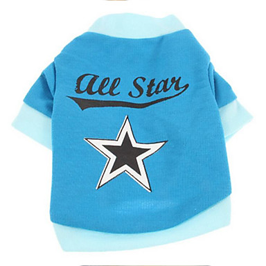 Dog Shirt / T-Shirt Dog Clothes Stars Plush Fabric Costume For Pets Men's / Women's Casual / Daily
