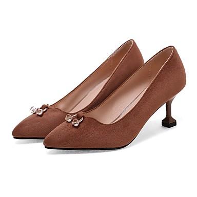 Damen Schuhe maßgeschneiderte Werkstoffe Frühling formale Schuhe Leuchtende Sohlen Pumps Komfort Loafers & Slip-Ons Walking Kitten