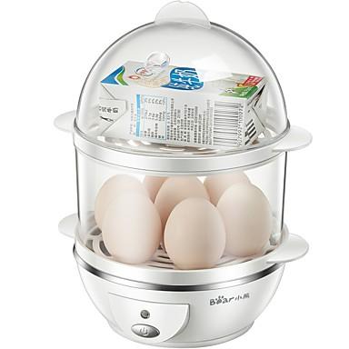 Eierkocher Doppel-Eierstöpsel Multifunktion Kreativ Aufrechtes Design Geräuscharm Licht-Spannungsanzeige Abnehmbar 220V