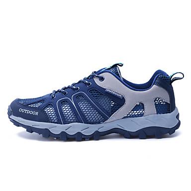 LEIBINDI Férfi Hegymászó cipők / Hétköznapi cipők Csúszásgátló, Viselhető, Szabadtéri Bőrutánzat Sötétkék / Stétszürke