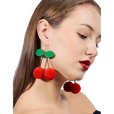voordelige Dames Sieraden-Dames Kersen Gepersonaliseerde Modieus oorbellen Sieraden Rood Voor Dagelijks Causaal Straat Uitgaan