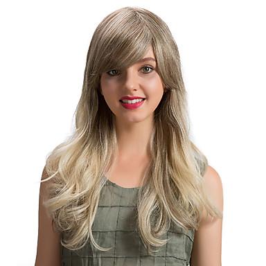 Emberi hajszelet nélküli parókák Emberi haj Hullámos Klasszikus Jó minőség Géppel készített Paróka Napi