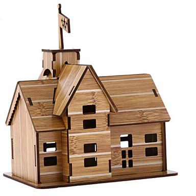 3D - Puzzle Holzpuzzle Haus Naturholz Kinder Unisex Geschenk