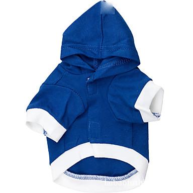 Hund Kapuzenshirts Hundekleidung Buchstabe & Nummer Blau Hellblau Baumwolle Kostüm Für Haustiere Herrn Damen Lässig/Alltäglich