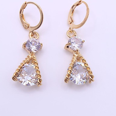 Women's Synthetic Diamond Drop Earrings - Personalized, Fashion Gold For Wedding / Party / Birthday