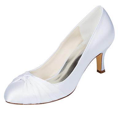 AiguilleBleu amp; Automne de Soirée Mariage Chaussures Talon Escarpin 06106530 Satin mariage Rose Noeud Elastique Femme Evénement Basique Printemps SHqCpfxw