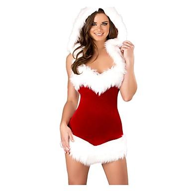 Mikulás ruhák Mrs.Claus Ruhák Felszerelések Női Felnőttek Karácsony Fesztivál / ünnepek Mindszentek napi kösztümök Piros Régies (Vintage)