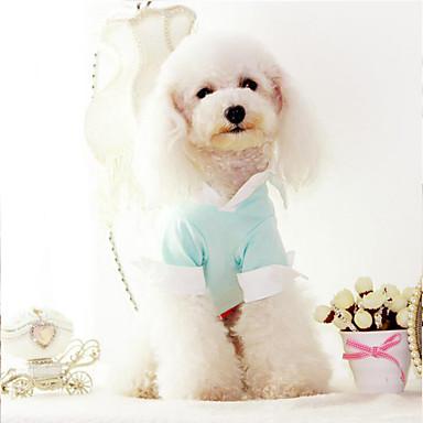 Hund T-shirt Hundekleidung Solide Baumwolle Kostüm Für Haustiere Sommer Herrn Damen Stilvoll Klassicher Stil Lässig / Alltäglich