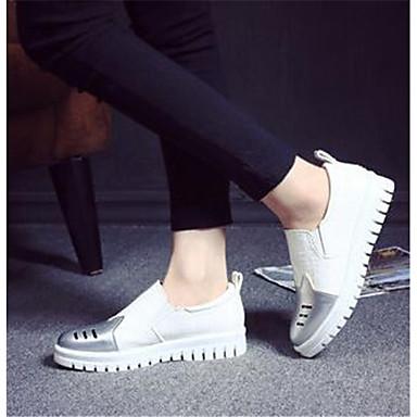 Damen Schuhe PU Frühling Komfort Loafers & Slip-Ons Für Normal Silber
