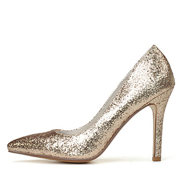 Chaussures Bout Chaussures Talon mariage Femme pointu Basique Brillante Paillette Printemps de Escarpin Paillettes 06177490 Or Eté Aiguille dw8qOPw