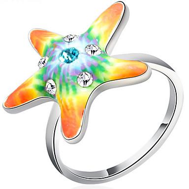 Damen Ringformen Bandringe Ring Kubikzirkonia Personalisiert Luxus Geometrisch Einzigartiges Design Grundlegend Freundschaft Übergang