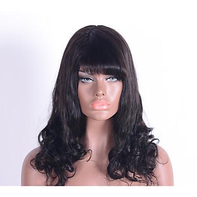 Emberi hajszelet nélküli parókák Emberi haj Klasszikus Jó minőség Géppel készített Paróka Napi